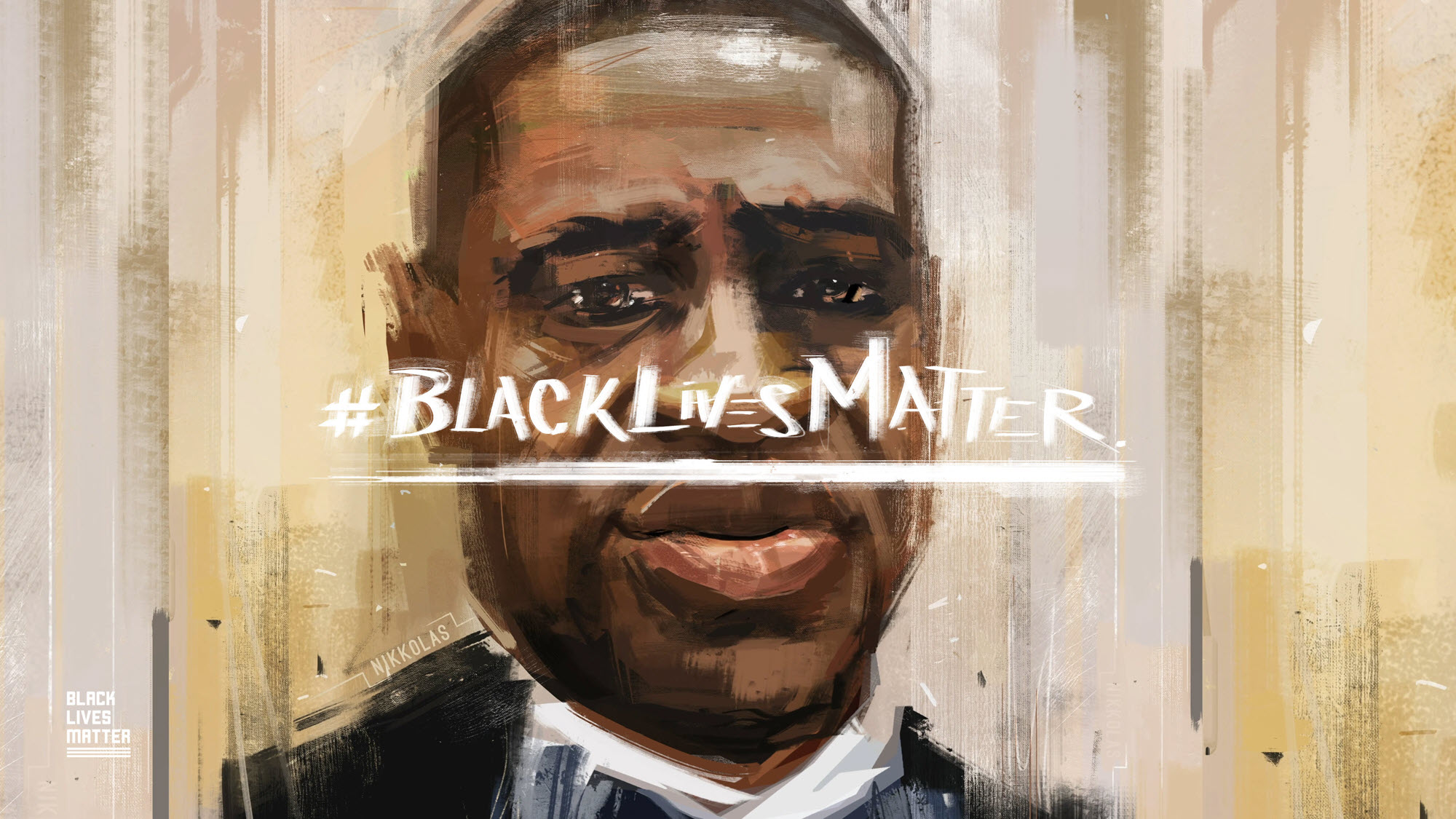 Black lives matter George Floyd photo